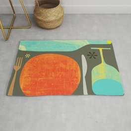 Wine & Dine Kitchen Art Rug