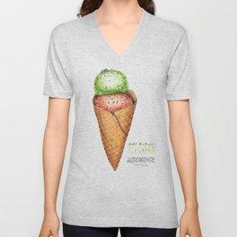 Ice cream illustration Unisex V-Neck
