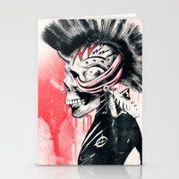 punk Stationery Cards featuring PUNK by Ali GULEC