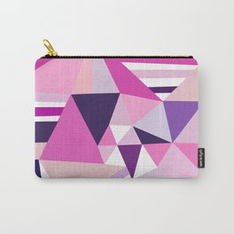 Hot pink purple abstract triangles stripes pattern Carry-All Pouch