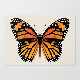 Monarch Butterfly | Vintage Butterfly | Canvas Print