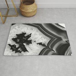 Gray Black White Agate Chic #1 #gem #decor #art #society6 Rug