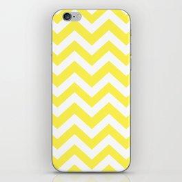 Lemon yellow - yellow color - Zigzag Chevron Pattern iPhone Skin