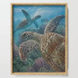 Sea Turtles - Turtle Bay Serving Tray