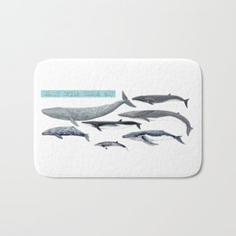 Happy world whale day Bath Mat