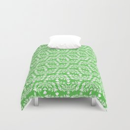 Folk Pattern Green Duvet Cover
