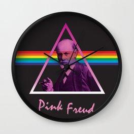 Pink Freud Wall Clock