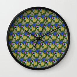 Kyle's babies print (Lilac) Wall Clock