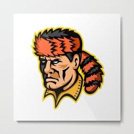 Davy Crockett Mascot Metal Print