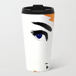 Audrey So Beautful In Orange and Blue Travel Mug
