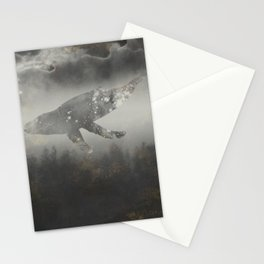 Dream Space - Surreal Image with A Whale Stationery Cards