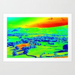 Thermal art 074 Art Print