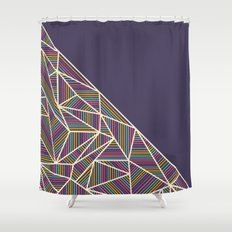 B Rays Geo 3 Shower Curtain