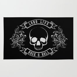Rock n Roll Skull Tattoo Design Rug