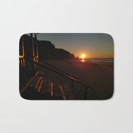 Shack by the sea at sunrise Bath Mat