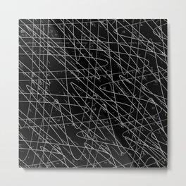Monochrome Storm Metal Print