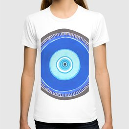 Blue and Silver Evil Eye Mandala T-shirt