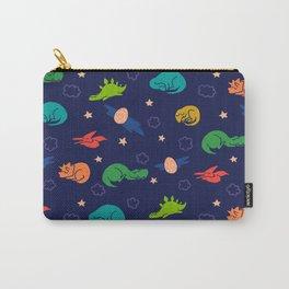 Sleepy Dinosaurs (Dark Blue) Carry-All Pouch