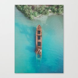 Roatan Island Shipwreck Canvas Print