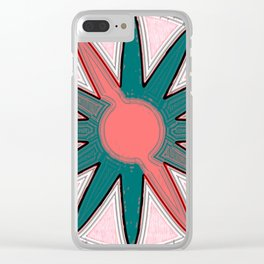 pastel star Clear iPhone Case