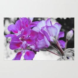fuchsia flOWERS Pop of Color Rug