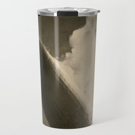 The Hindenburg hits the ground in flames in Lakehurst, N.J. Travel Mug