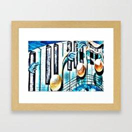 Deep Ellum Music Note Mural - Surreal Framed Art Print