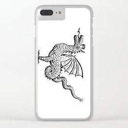 Dragon (pencil) Clear iPhone Case
