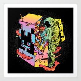 Space Arcade Art Print