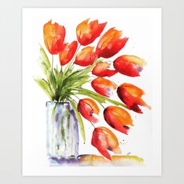 Tulips Overflowing Art Print