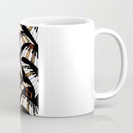 Jazz It Up Wild Piano Keys Black Coffee Mug