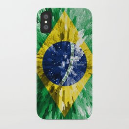 Extruded flag of Brazil iPhone Case