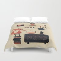 cooking Duvet Covers featuring just keep cooking by blablasah