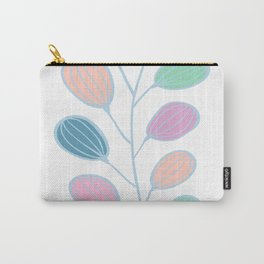 Leaf Print, Plant Print, Kids Room, Wall Art Download, Leaves Wall Art, Colourful Plant Carry-All Pouch