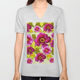 SPRING FLOWERS ART Unisex V-Neck