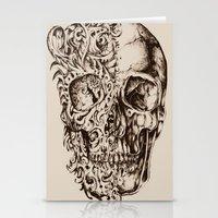 skeleton Stationery Cards featuring Skeleton by ViviRajski