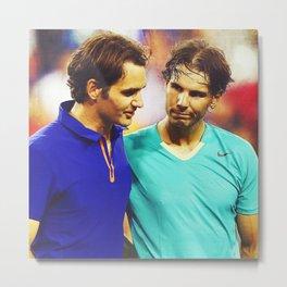Federer & Nadal Tennis Metal Print