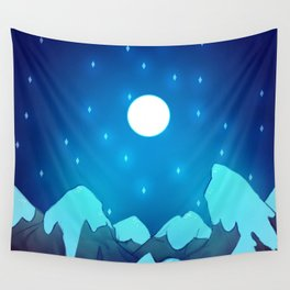 Mountains - Winter Night Variant Wall Tapestry
