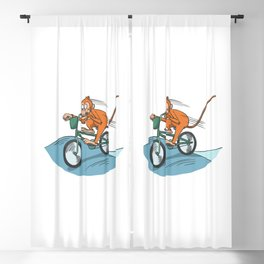 Monkey On Bike Race For Bicycle Fans Blackout Curtain