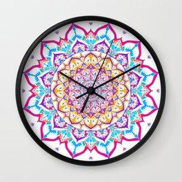 mandala flowers Wall Clock