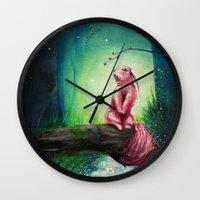 kodama Wall Clocks featuring KODAMA by _Shara_