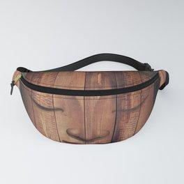 Wood budha Fanny Pack