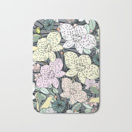 Orchids in Bloom Bath Mat
