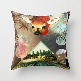 Fawn Over Pineapples Throw Pillow