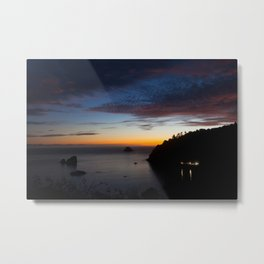 Late Sunset Over Trinidad Harbor Metal Print