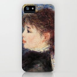 Young Woman with Rose (Jeune fille à la rose) (1877) by Pierre-Auguste Renoir. iPhone Case