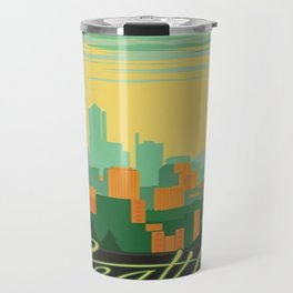 Vintage poster - Seattle Travel Mug