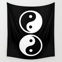 yin yang Wall Tapestries featuring Yin Yang by Beautiful Homes