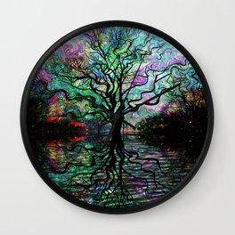 Van Goghs Aurora Borealis Reflection Wall Clock