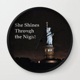 She Shines Through the Night Wall Clock
